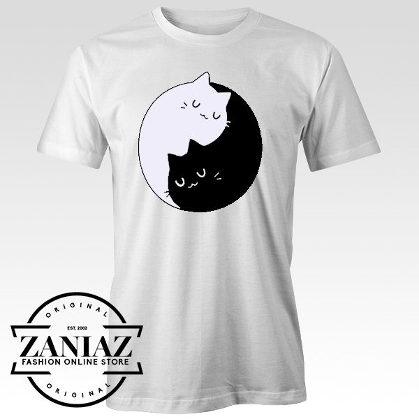 Custom Tshirt Yin Yang Cat Unisex Adult