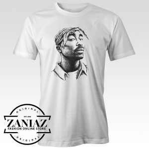 Custom Tupac Shakur Art T-Shirt