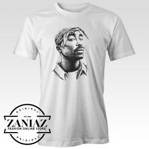 Custom Tupac Shakur Art T-Shirt