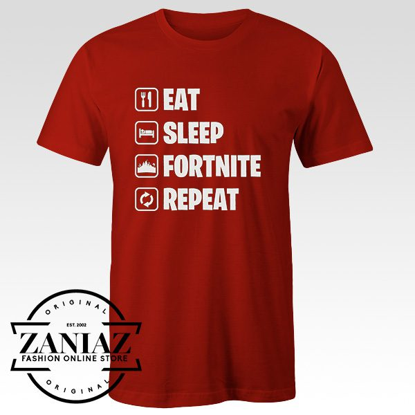 Fortnite Gaming Eat Sleep Repeat Gamer T Shirt