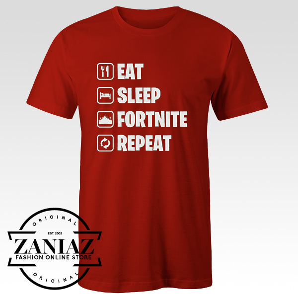 64afbd3f3 Fortnite Gaming Eat Sleep Repeat Gamer T Shirt - Cheap Kids Clothes