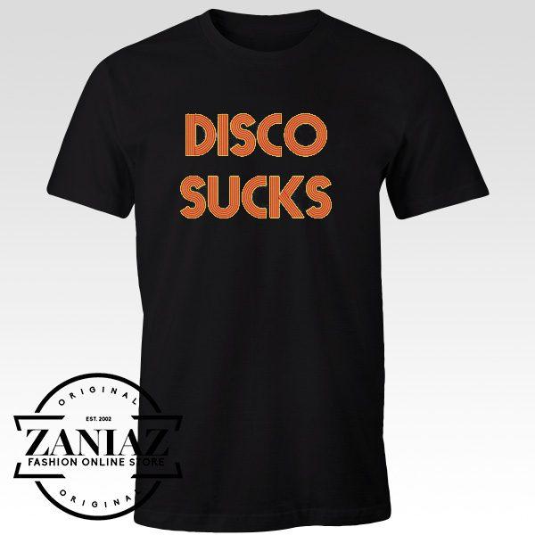 Graphic Tee Shirt Disco Sucks Cheap Tshirts