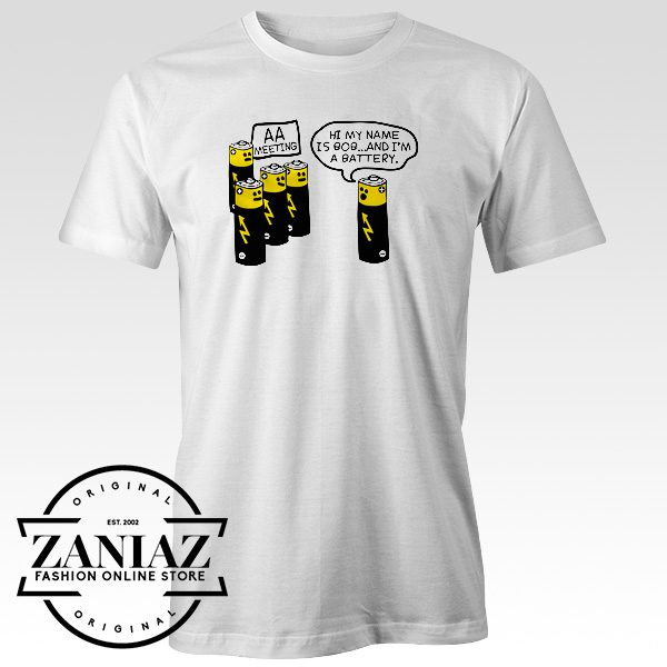 Battery Funny Tee Shirts Battery Workout Clothes