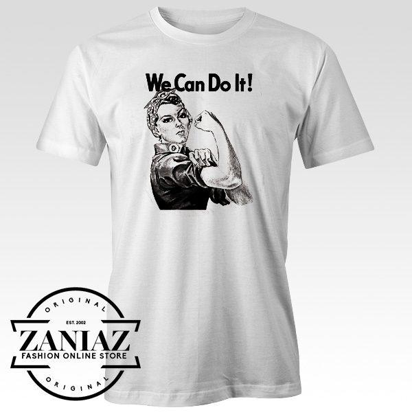 Cheap Rosie the Riveter Shirt We Can Do it T-shirt