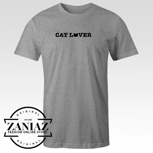 Cheap Tee Shirts Cat Lover Girls Lady T-Shirt