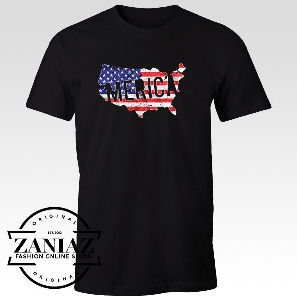 MERICA Men's T-shirt Independence Day Shirt