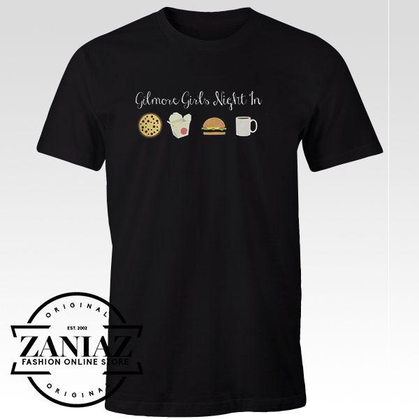 Cheap Graphic Tshirt Gilmore Girls Night in Black tshirt
