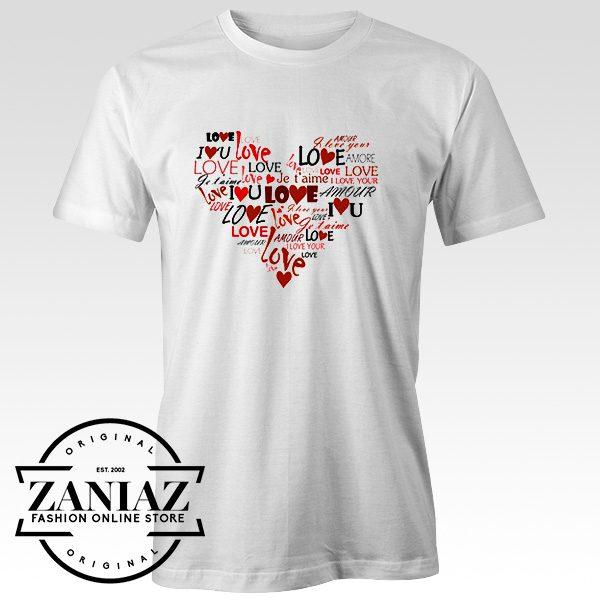 Cheap Tee Shirt Love Heart Mens t-shirt Adult Unisex