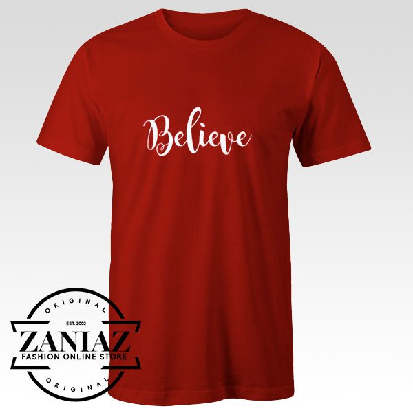 Cheap Tshirt Believe Shirt Christmas Shirt for Women