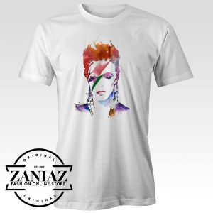 Cheap Tshirt David Bowie Camiseta Watercolor Art