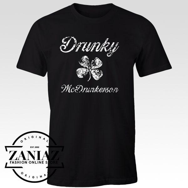 Cheap Tshirt Drunky Mc st Pats Tee Shirt Mens t-shirt Adult