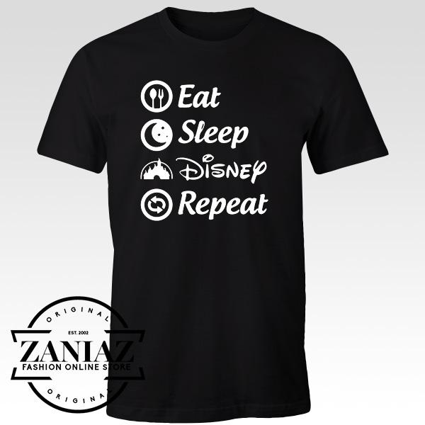 Cheap Tshirt Eat Sleep Disney Repeat T Shirts Adult Cheap Kids Clothes