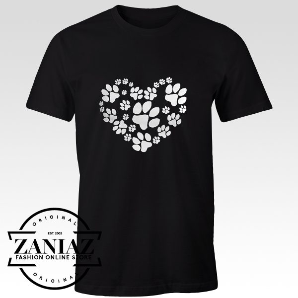 Cheap Tshirt Paws Heart Gift for Women's Shirt Adult