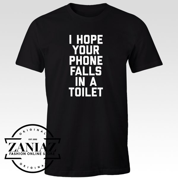 Cheap Tshirt Phone in Toilet Funny Quote Men t-shirt