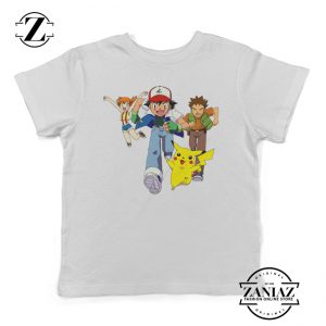 Ash Ketchum Misty Character Pokemon Kids Tshirt