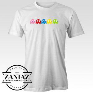 Buy Video Game Tee Ms Pac Man Ghosts T-Shirt