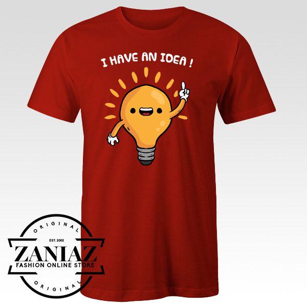 Cheap Funny Cartoon Light Lamp T-Shirt Adult