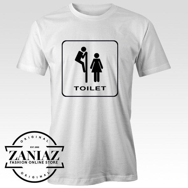 Cheap Funny Public Toilet Bathroom Sign T-Shirt