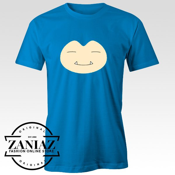Cheap T-Shirt Pokemon Character Snorlax Face Tee