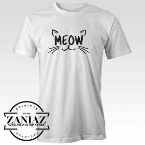 Cheap Tee Funny Cat Lover Gift Shirt, MEOW T-shirt
