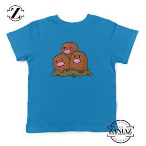 Dugtrio Pokemon Shirt Diglett Evolution Kids Tee