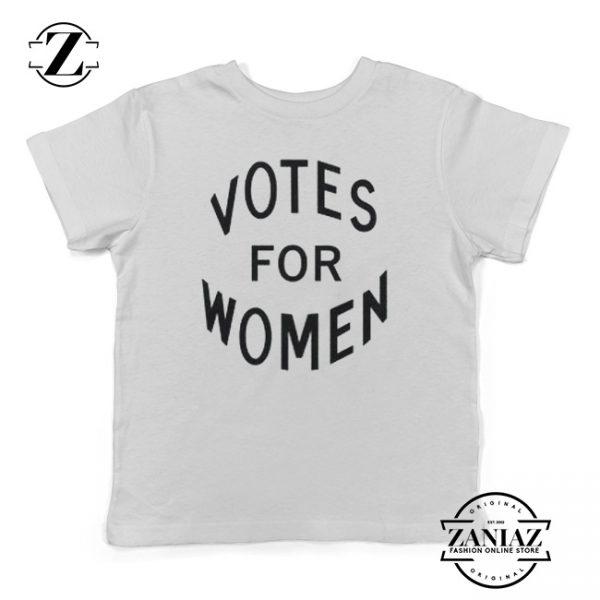 Funny Tee Votes for Women Feminist Kids Shirt