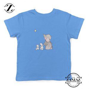 Kids Shirt Vector Cute Elephant and Rabbit Toddler