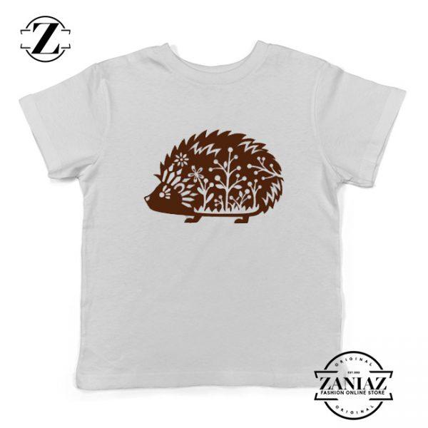 Kids Shirt Whimsical Hedgehog Tshirt Forest Animal