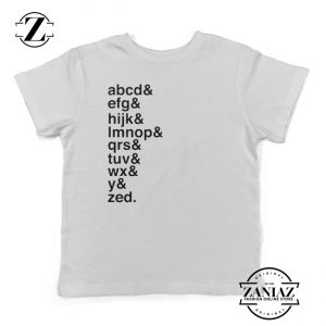Toddler T-Shirts Alphabet Tees Typography Shirt