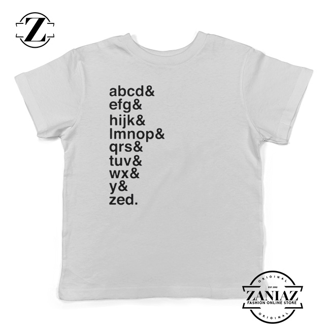 Toddler T Shirts Alphabet Tees Typography Shirt