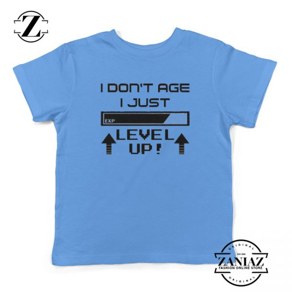 Video Game Tshirt Don't Age Level Up Tee Youth
