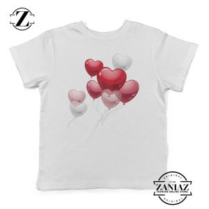 Buy Kids Tee Cute Heart Balloons Funny Youth Shirt