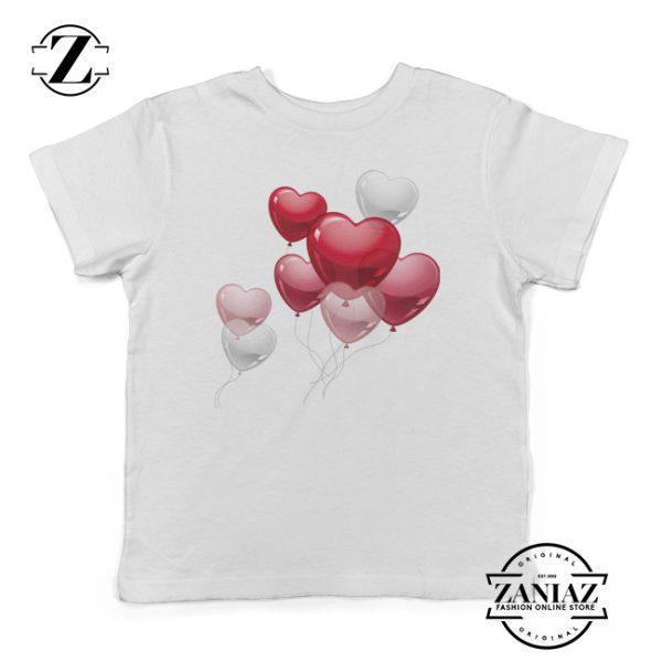 Buy Kids Tee Cute Heart Balloons Funny Youth Shirt