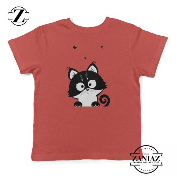 Cheap Cat Kitten Silhouette Cuteness Cat Kids tshirt