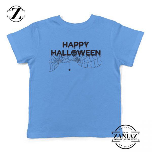 Cheap Kids Shirt Spider Net Halloween Youth Tee