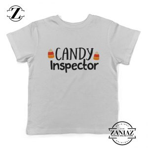 Funny Halloween Kids Shirt Youth Candy Inspector