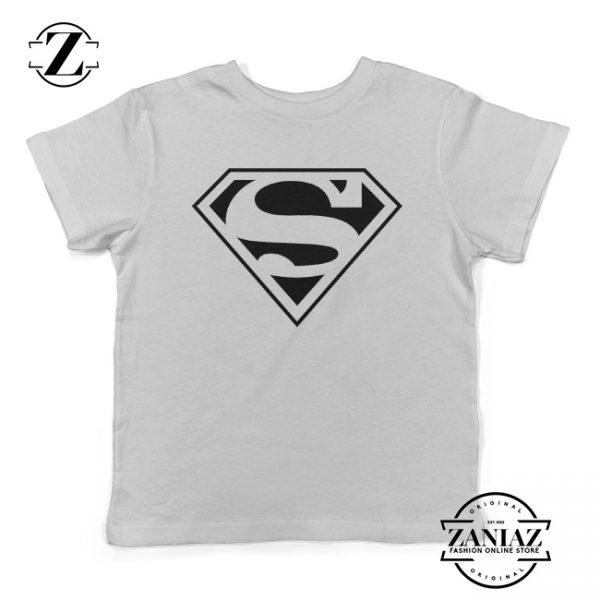 Gift Kids Shirt Superman Logo Birthday Youth Tee