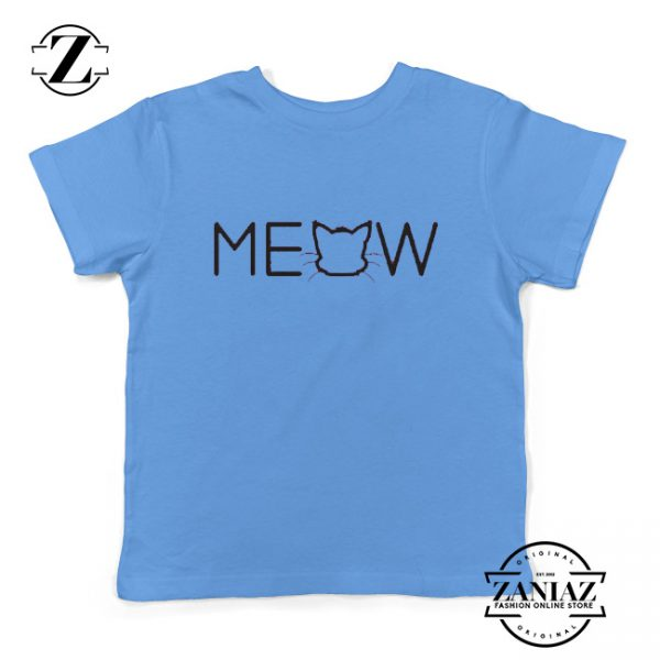 Kids Clothing Funny T-Shirt Meow T-Shirt Youth