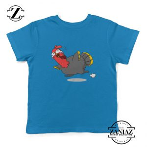 Kids Shirt Turkey Thanksgiving Youth Tees Cartoon