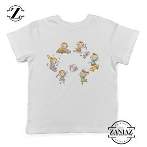 Kids Tee Child Play Cartoon Cute Kids Playing Shirt