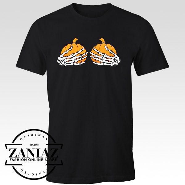 Pumpkin Boobs Women's T-shirtHalloween TShirt