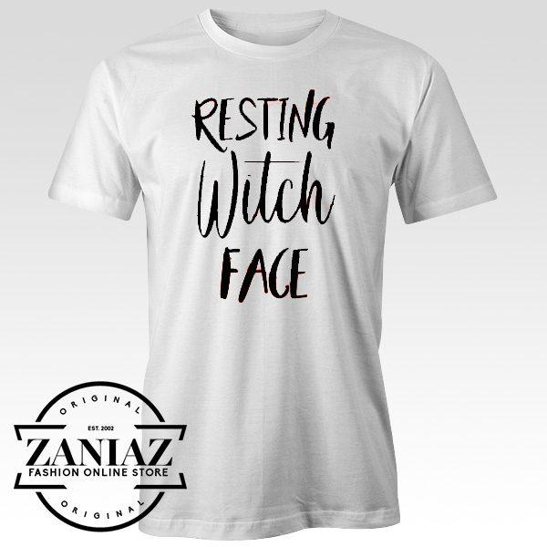 Resting Witch Face Shirt Women's Halloween T-Shirt