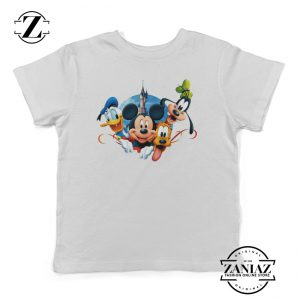 Tee Mickey Pluto Minnie Mouse Donald Kids Shirt