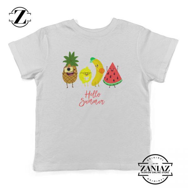 Toddler Summer Fruit Watermelon Banana Kids Tee