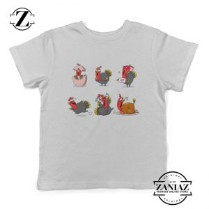 Turkey Cartoon Youth Tees Thanksgiving Kids Shirt