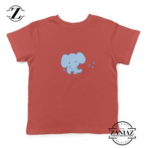 Youth Shirt Cute Baby Elephant Cartoon Kids Tshirt