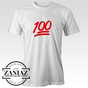 Buy Cheap 100 Points Symbol Emoji T-shirt Gift Tee