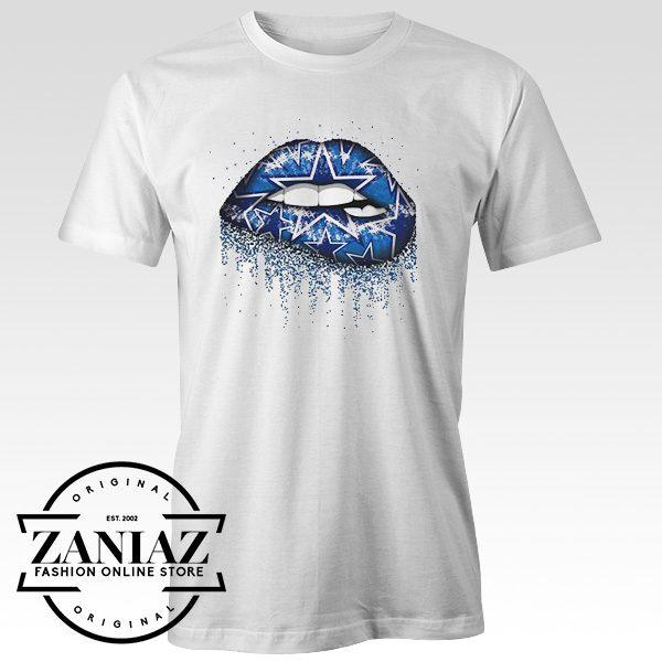 Buy Cheap Gift Tshirt Lips blue Women Tee Shirt