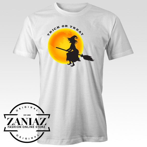 Buy Cheap Shirt Halloween Witch and Moon Tee