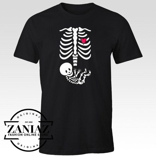 Buy Full Maternity Skeleton Halloween Tee Shirt